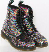 Dr. Doc Martens 1460 Pascal Sequin Lace-Up multi Combat Boots UK 5 Women's US 7