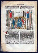 1499 Blatt CCCXXXII Inkunabel Vita Christi Zwolle Holzschnitt woodcut incunable
