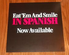 David Lee Roth Eat' Em and Smile in Spanish Poster 2-Sided Flat Square 1986 Prom