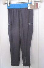 REEBOK~Iron Gray with Blue Compression Type Pants / Leggings~Girls Size 6x~NWT