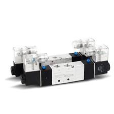 """DC12V/24V AC24V~380V 1/4"""" BSP 4V230C-08 3 Position 5 Way PneumaticSolenoid Valve"""