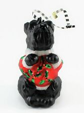 Mary Engelbreit Christmas Collection Ornament Black Scottie Dog New in Orig Box