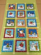 Winter Parade By Wilma Sanchez For Benartex - 6in Squares Christmas Panel - 60cm