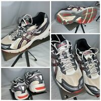 Asics Gel 1160 Sz 3.5 Youth White Black Red Running Shoes EUC YGI D0S-43