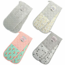 DOUBLE OVEN GLOVES PADDED HEAT RESISTANT KITCHEN COTTON POTHOLDERS MITTS GLOVE