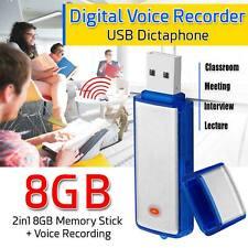 8GB Voice Record Mini Spy Digital Sound Audio Recorder Dictaphone MP3 Player