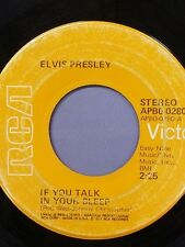 "ELVIS PRESLEY 45 RPM ""If You Talk in Your Sleep"" & ""Help Me"" VG condition"