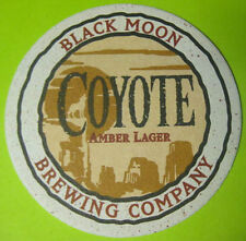 COYOTE AMBER LAGER Beer COASTER, Mat, Black Moon Brewing, St. Paul, MINNESOTA