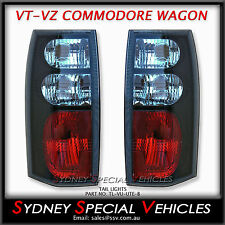 BLACK ALTEZZA TAIL LIGHTS FOR VT VX VY VZ COMMODORE WAGONS - NEW PAIR TAIL LAMPS