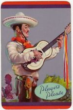 Playing Cards 1 Swap Card Old Vintage PLAYERS PLEASE Cigarettes BARRIBAL Guitar