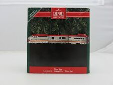 Hallmark Keepsake Christmas Ornament SILVER STAR TRAIN SET LOCOMOTIVE DOME CAR