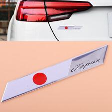 3D Aluminum Japan Japanese Flag Emblem Metal Badge Car Motorcycle Decor Sticker