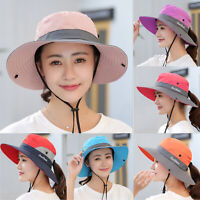 Women Sun Protective Hats Summer Big Wide Brim Caps Beach Visor Hiking Travel