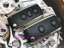 Set Of 2 Bentley Key Set GT GTC Flying Spur Key Fob 3 Button+Panic New Blades