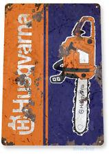 Tin Sign Husqvarna Chain Saws Retro Rustic Tools Equipment Garage Shop C305