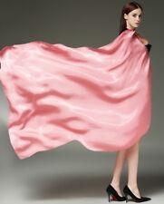 100% Silk Summer Scarf Women Solid Soft Shawl Muslim Hijab Scarves Foulard Wraps