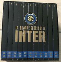 lotto COFANETTO/box+11 DVD LA GRANDE STORIA DELL'INTER Raccolta Completa