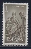ESPAÑA (1962) MNH NUEVO SIN FIJASELLOS SPAIN - SC SCOTT 1151 NAVIDAD