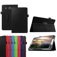 NEU Leder Schutzhülle Stand Flip Case Cover Tasche For Samsung Galaxy Tab E T560