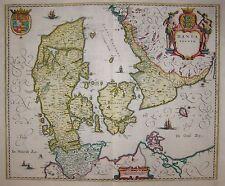 Dania Regnum -Landkarte des Königreichs Dänemark von Willem Janszoon Blaeu -1640