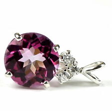 Pure Pink Topaz, 925 Sterling Silver Pendant, SP087,