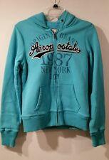 New AEROPOSTALE Womens Light Blue sweater  Hoodie Jacket Sz L