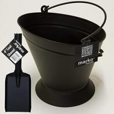 Coal Bucket Shovel Scuttle Set Fireplace Wood Burning Charcoal Fireside Ash Pan