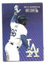 Los Angeles Dodgers MLB Mini Pocket Schedule 2015 Yasiel Puig