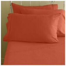 1000 Tc 1-Pic Split Corner Bed Skirt All Us Size Orange Solid Egyptian Cotton