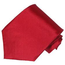 Men's 100% silk solid passion red color tie