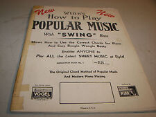 Winn's How To Play Popular Music Swing Bass Sheet Book 1942
