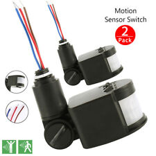 2x180° 12M Outdoor Security PIR Infrared Motion Sensor Detector Switch LED Light