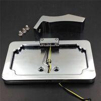 Chrome Side-Mount License Plate Bracket w/ LED For Yamaha YZF 1000 R1 600 R6