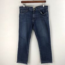 Current Elliott Womens The Cropped Straight Jean Size 30 Stagecoach Released Hem