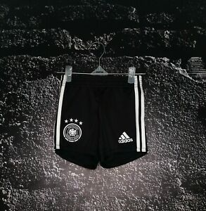 Germany Team Home Football Shorts 2019-2020 Black Adidas FS7596 Size Kids 1-2YRS