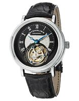 Stuhrling Tourbillon 502 Hand-wind 43mm Men's Watch Genuine Alligator Strap