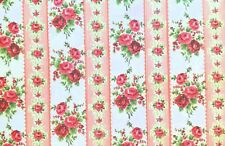 Dollhouse Miniature  Pink Roses  Wallpaper