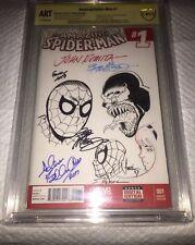 AMAZING SPIDER-MAN 1 Signed & Sketched John Romita Bob Mcleod David Finch Tucci+