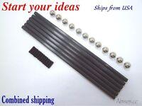 Diagonal push Rod L200mm Steel Ball carbon rod kit - mini kossel 3D Printer