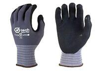 N-Tech Dark Foam Nitrile Gloves | Black Nitrile & Nylon/Spandex Liner  | 4 Pk