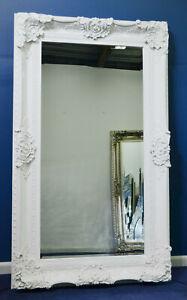 Large Glossy White Mirror 150cm x 89cm