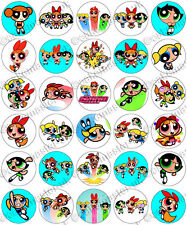 30 x Powerpuff Girls Party Edible Rice Wafer Paper Cupcake Toppers