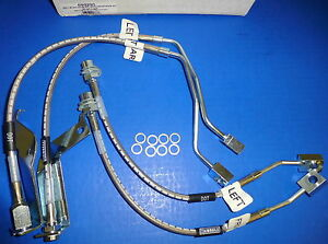 Russell 693290 Stainless Steel Brake Line Hose Kit Mustang 1999-04 w/o traction
