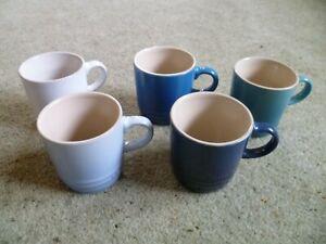 Le Creuset espresso coffee cups x5 multicoloured