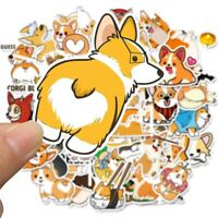 Hot 50 x Kawaii Dog Scrapbooking Stickers Corgi Set Scrapbook Laptop Decor