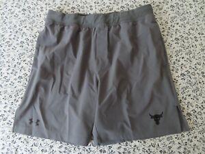 Under Armour Mens UA Project Rock Shorts 1346070 grey XL