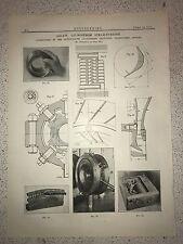 1000 KW Ljungstrom Steam Turbine, Sweden: 1912 Engineering Magazine Print