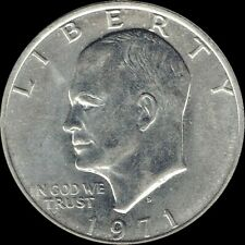 """1971 D Eisenhower Dollar """"About Uncirculated"""" US Mint Coin AU Ike"""