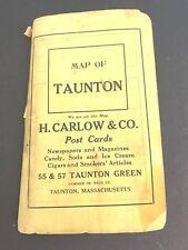 1915 Map City TAUNTON MASSACHUSETTS MA H. Harlow LUTHER DEAN Heliotype Boston