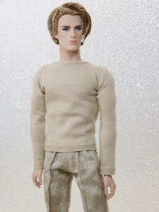 PJ Pants & Sunsilk Beige Crew Neck Top Handmade by KK Fits FR Homme